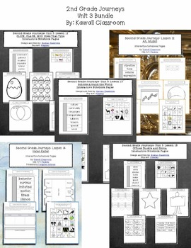 2nd Grade Journeys Unit 3 Interactive Notebook Pages