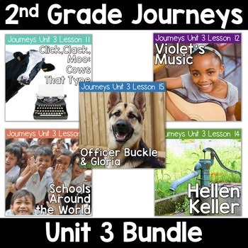 2nd Grade Journeys Unit 3: Lessons 11-15 Supplemental Resource BUNDLE