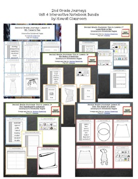 2nd Grade Journeys Unit 4 Interactive Notebook Pages