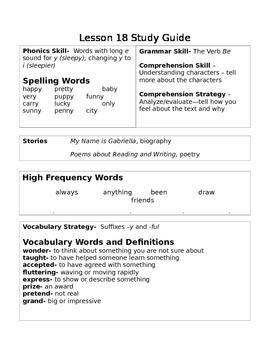 2nd Grade Journey's Unit 4 Study Guide (s)