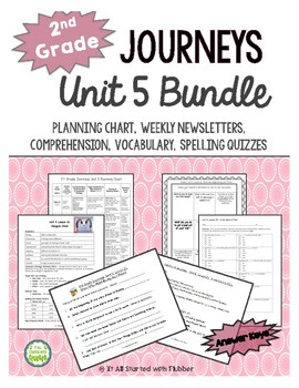 2nd Grade Journeys, Unit 5 BUNDLE of Resources