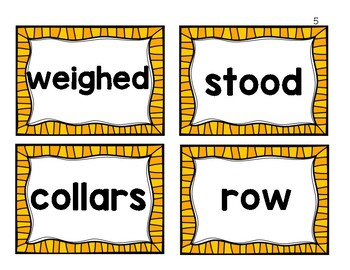 2nd Grade Journeys Vocabulary/Word Wall Cards