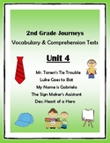 2nd Grade Journeys Vocabulary & Comprehension Tests: Unit 4 Bundle