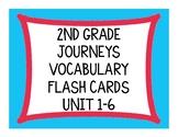 2nd Grade Journeys Vocabulary Flash Cards Unit 1-6 Bundle