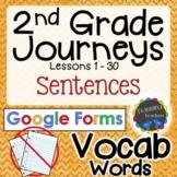 2nd Grade Journeys   Vocabulary Sentences   Google Forms  
