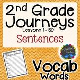 2nd Grade Journeys Vocabulary - Sentences LESSONS 1-30