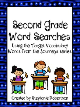 2nd Grade Word Searches with Target Vocabulary from the Journeys 2011 series