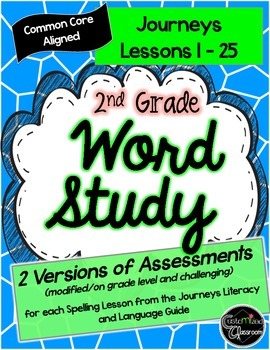 2nd Grade Journeys Word Study- Assessments Only