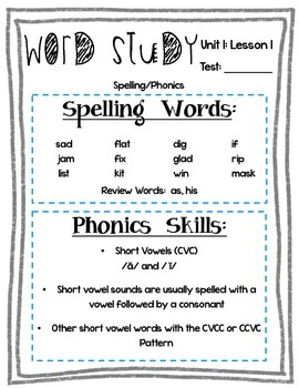 2nd Grade Journeys Word Study- Full Set: Study Guides, Tests, and more!