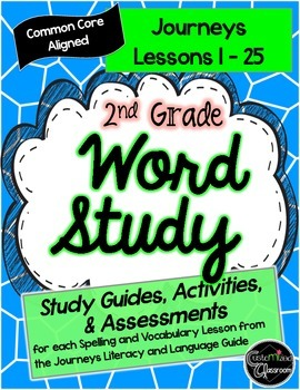 2nd Grade Journeys Word Study- Full Set: Study Guides, Tes