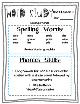 2nd Grade Journeys Word Study- Study Guides, Posters, and Activities Set