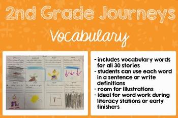 2nd Grade Journeys Vocabulary