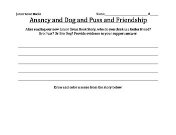 2nd Grade Junior Great Books Anancy And Dog And Puss And Friendship