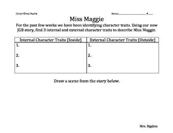 2nd Grade Junior Great Books- MISS MAGGIE Internal/External Character Traits
