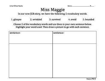2nd Grade Junior Great Books- MISS MAGGIE Vocabulary work