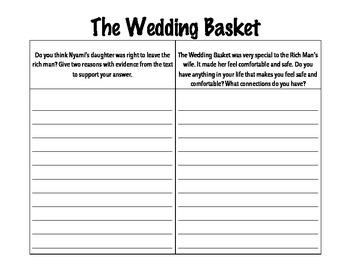 2nd Grade Junior Great Books- THE WEDDING BASKET focus questions