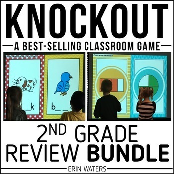 2nd Grade Knockout End of Year Review BUNDLE {Math & Language Arts}