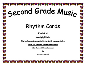 2nd Grade Kodaly Music Rhythm Flashcards