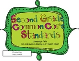 2nd Grade Language Arts Common Core Standards for a Pocket Chart