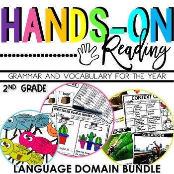 2nd Grade Language Arts, Grammar, Vocabulary BUNDLE {Hands-on Reading}