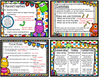 2nd Grade Language Arts Posters / 2nd Grade Anchor Charts
