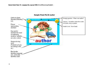 2nd Grade Language Arts Power Pix