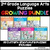 2nd Grade Language Arts Puzzles BUNDLE