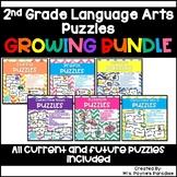 2nd Grade Language Arts Puzzles BUNDLE