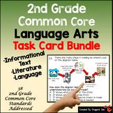 2nd Grade Language Arts Task Card Bundle Plus TPT Digital Overlay