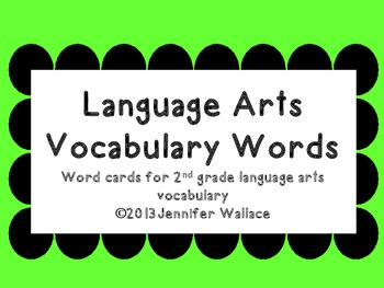2nd Grade Language Arts Vocabulary