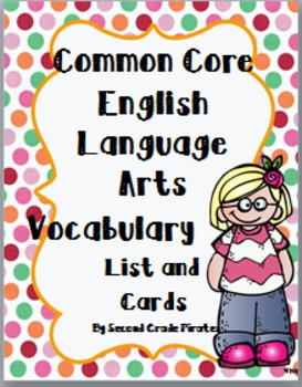 2nd Grade Language Arts Vocabulary Cards