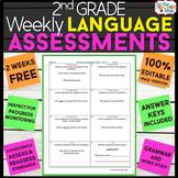 2nd Grade Grammar Assessments Grammar Quizzes {2nd Grade L