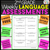 2nd Grade Language Assessments | 2nd Grade Grammar Quizzes