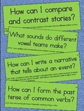 2nd Grade Language Essential Question Cards for Display - Small Size