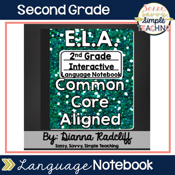 2nd Grade Language Interactive Notebook {CCSS Aligned}