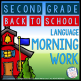Morning Work Second Grade | BACK TO SCHOOL Morning Work Pr