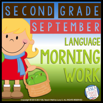 Morning Work Second Grade | SEPTEMBER Morning Work Printables