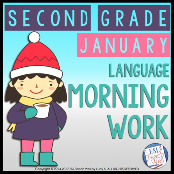 Morning Work Second Grade | JANUARY Morning Work Printables