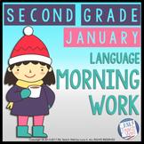 Morning Work Second Grade | JANUARY Morning Work Printables