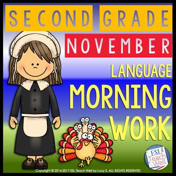 Morning Work Second Grade   NOVEMBER Morning Work Printables