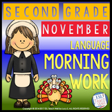 Morning Work Second Grade | NOVEMBER Morning Work Printables