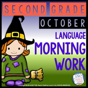 Morning Work Second Grade | OCTOBER Morning Work Printables