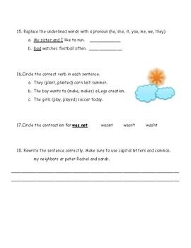 2nd Grade Language Review (2nd quarter)