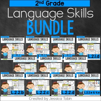2nd Grade Language Skills Bundle, Language: Conventions of Standard English