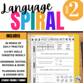 2nd Grade Language Spiral Review: Daily grammar, word work, & editing activities
