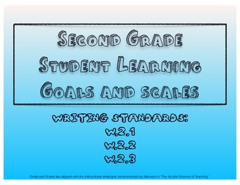 2nd Grade Writing Learning Goals and Scales - No Prep!