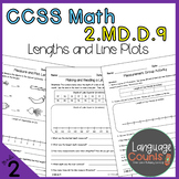 2nd Grade, Lengths and Line Plots- No Prep Practice Worksheets