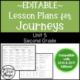 Journeys Lesson Plans Second Grade Unit 5 {EDITABLE!}