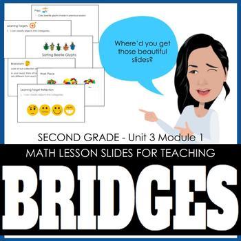 2nd Grade Lesson Slides for Bridges Math - Unit 3 Module 1