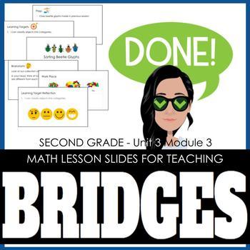 2nd Grade Lesson Slides for Bridges Math - Unit 3 Module 3